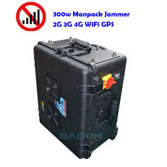 400w Mobile Phone Signal Jammer 8 Antennas 2G 3G 4G 5G GPS 500m Range Military Used